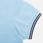 Детское поло Fred Perry SY1200 Twin Tipped Sky Blue/Port/Indigo фото- 3
