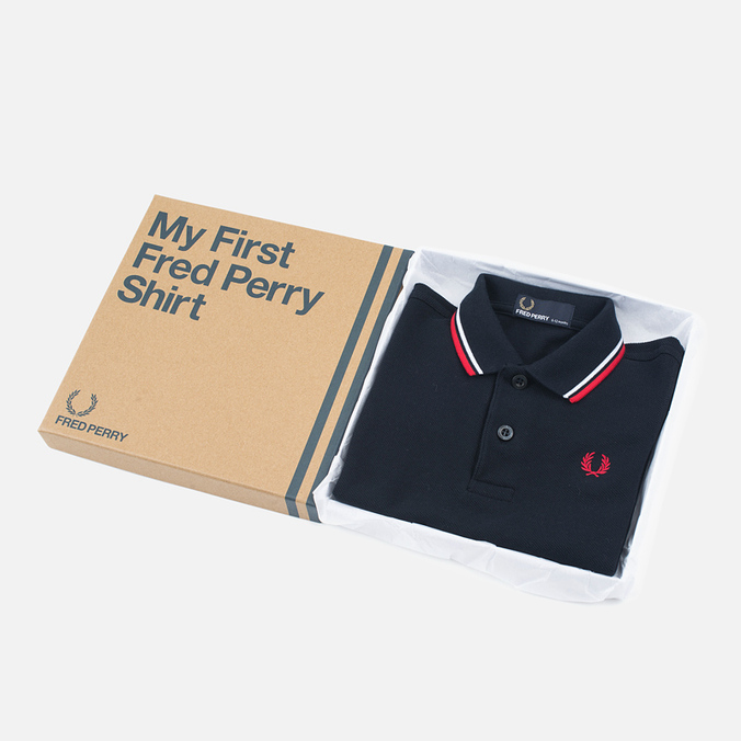 Детское поло Fred Perry My First Navy/White