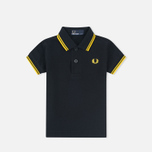 Детское поло Fred Perry My First Shirt Black/New Yellow фото- 1