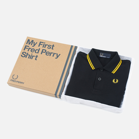 Детское поло Fred Perry My First Shirt Black/New Yellow