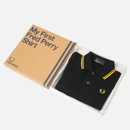 Fred Perry My First Shirt Children's Polo Black/New Yellow