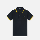 Детское поло Fred Perry Twin Tipped Black/New Yellow фото- 0