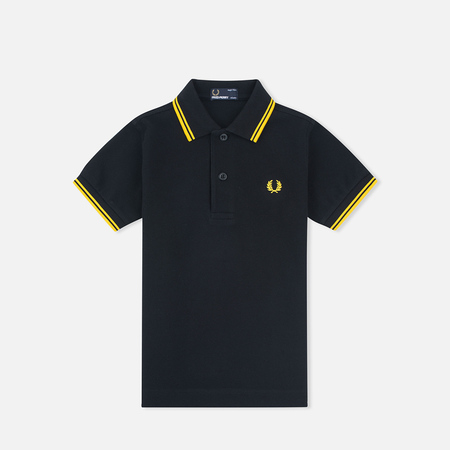 Детское поло Fred Perry Twin Tipped Black/New Yellow
