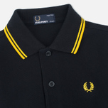 Детское поло Fred Perry Twin Tipped Black/New Yellow фото- 1