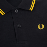 Детское поло Fred Perry Twin Tipped Black/New Yellow фото- 2