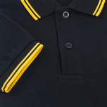 Детское поло Fred Perry Twin Tipped Black/New Yellow фото- 3