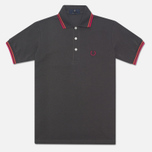 Мужское поло Fred Perry Laurel Japanese Tipped Anthracite фото- 0