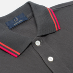 Мужское поло Fred Perry Laurel Japanese Tipped Anthracite фото- 1