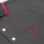 Мужское поло Fred Perry Laurel Japanese Tipped Anthracite фото- 2