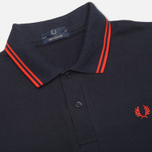 Мужское поло Fred Perry Laurel M12 Twin Tipped Navy/Red фото- 1
