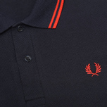 Мужское поло Fred Perry Laurel M12 Twin Tipped Navy/Red фото- 2