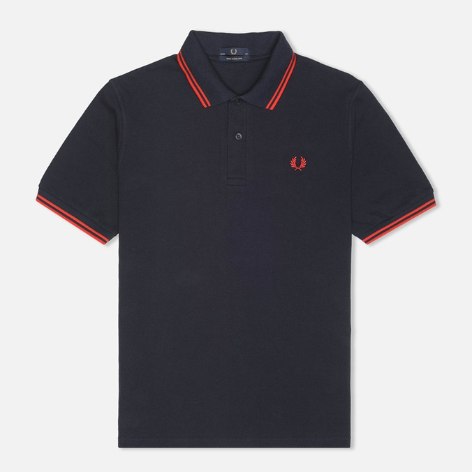 Мужское поло Fred Perry Laurel M12 Twin Tipped Navy/Red
