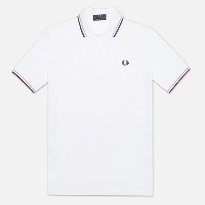 Мужское поло Fred Perry Laurel M12 White/Ice/Maroon