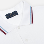 Мужское поло Fred Perry Laurel M12 White/Ice/Maroon фото- 1