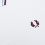 Мужское поло Fred Perry Laurel M12 White/Ice/Maroon фото- 2
