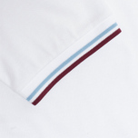 Мужское поло Fred Perry Laurel M12 White/Ice/Maroon фото- 3