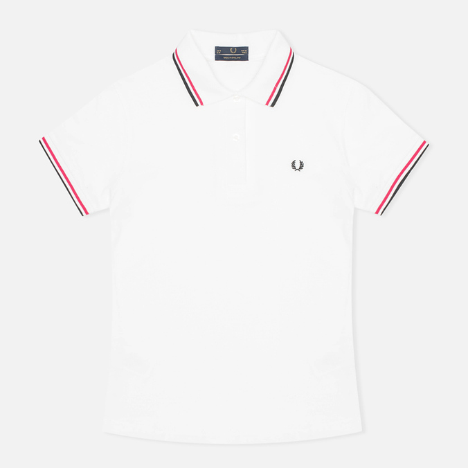 Женское поло Fred Perry Laurel G5801 White/Maroon