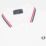 Женское поло Fred Perry Laurel G5801 White/Maroon фото- 1