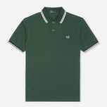 Мужское поло Fred Perry M1200 Twin Green/White/White фото- 0