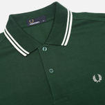 Мужское поло Fred Perry M1200 Twin Green/White/White фото- 1