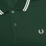 Мужское поло Fred Perry M1200 Twin Green/White/White фото- 2