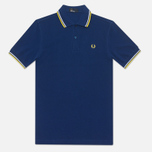 Fred Perry M1200 Twin Tipped Polo Medieval Blue photo- 0