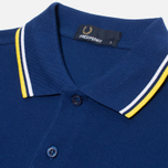 Fred Perry M1200 Twin Tipped Polo Medieval Blue photo- 1
