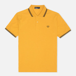 Мужское поло Fred Perry M1200 Twin Tipped Mustard Yellow/Black фото- 0