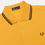 Мужское поло Fred Perry M1200 Twin Tipped Mustard Yellow/Black фото- 1