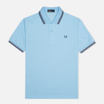 Мужское поло Fred Perry M1200 Twin Tipped Sky Blue/Port/Indigo фото- 0