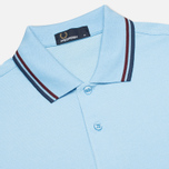 Мужское поло Fred Perry M1200 Twin Tipped Sky Blue/Port/Indigo фото- 1