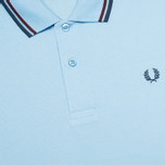 Мужское поло Fred Perry M1200 Twin Tipped Sky Blue/Port/Indigo фото- 2