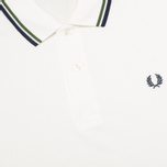 Мужское поло Fred Perry M1200 Twin Tipped Snow White/Verde/Navy фото- 2
