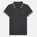 Fred Perry Twin Tipped Women's Polo Graphite/Light Ecru photo- 0