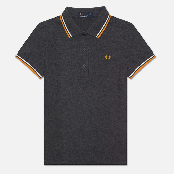 Fred Perry Twin Tipped Women's Polo Graphite/Light Ecru