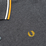 Fred Perry Twin Tipped Women's Polo Graphite/Light Ecru photo- 2