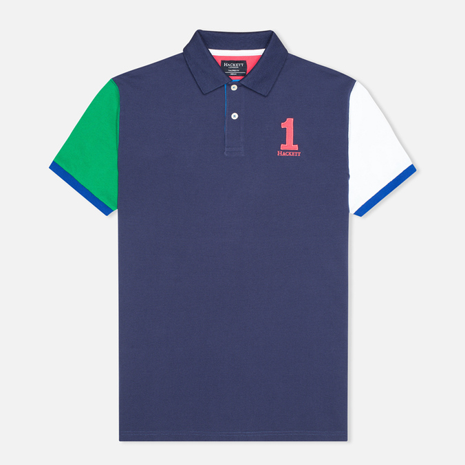 Hackett NBR Multi Men's Polo Navy/Blue/Green