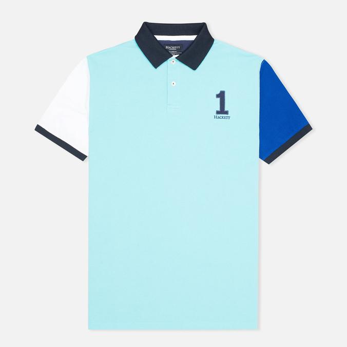 Мужское поло Hackett NBR Multi Turquoise/Navy/Blue