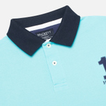 Мужское поло Hackett NBR Multi Turquoise/Navy/Blue фото- 1
