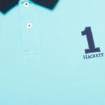 Мужское поло Hackett NBR Multi Turquoise/Navy/Blue фото- 2