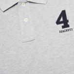Мужское поло Hackett New Classic Light Grey Marl фото- 2