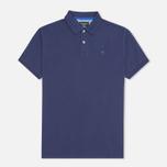 Мужское поло Hackett Tailored Logo Blue фото- 0