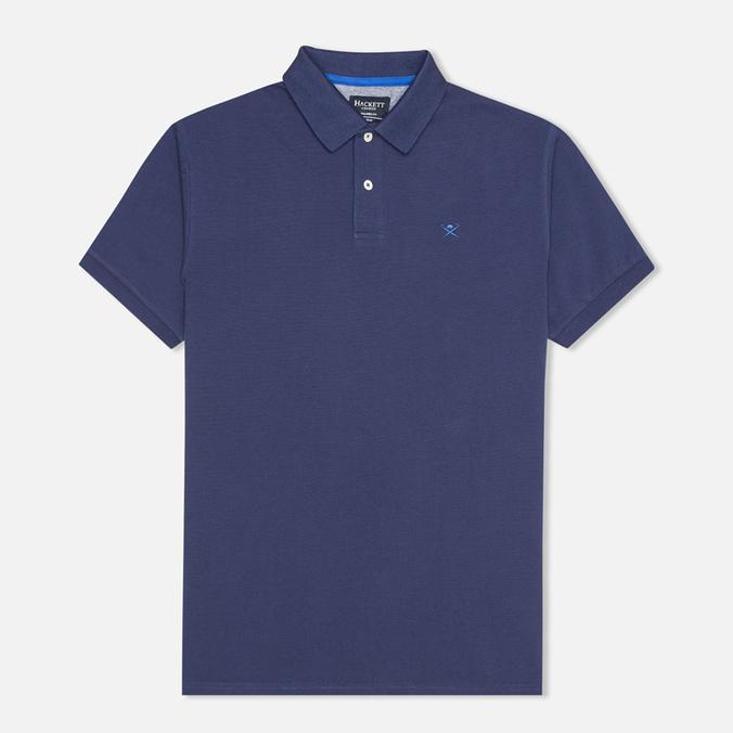 Мужское поло Hackett Tailored Logo Blue