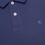 Мужское поло Hackett Tailored Logo Blue фото- 2