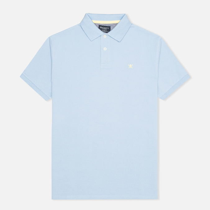 Hackett Tailored Logo Polo Oxford Blue
