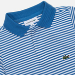 Детское поло Lacoste Pique Wave Blue/White фото- 1