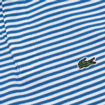 Детское поло Lacoste Pique Wave Blue/White фото- 3