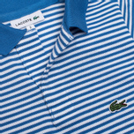 Детское поло Lacoste Pique Wave Blue/White фото- 2