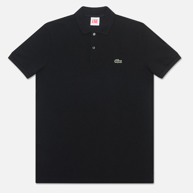 Мужское поло Lacoste Live Short Sleeve Black