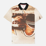 Lacoste Live Vintage Graphic Pique Men's Polo Floral photo- 0